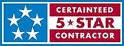 CertainTeed 5 Star Contractor